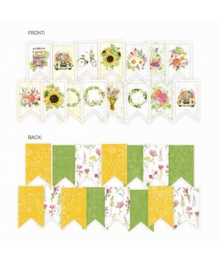 Papierowy banerek do powieszenia / die cut The Four Seasons - Summer P13