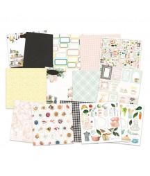 Zestaw papierów do scrapbookingu 15.2x15.2 cm, Around the table P13