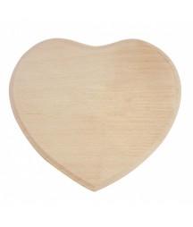 Drewniane serce, plakietka
