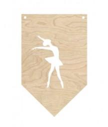 Proporczyk ze sklejki - baletnica