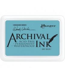 Tusz wodoodporny Archival, kolor Sky Blue - niebieski