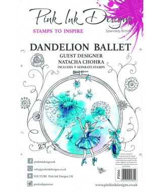 Stemple akrylowe Pink Ink Design's Dandelion ballet