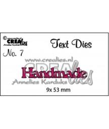 Wykrojniki Text Dies Crealies, napis Handmade CLTD07