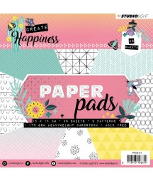 Papiery do scrapbookingu 15x15 cm Studio Light Create Happiness PPCR111 - bloczek