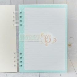 Notes - planer w twardej okłądce A5, kolor miętowy [S75]