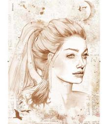 Papier ryżowy do decoupage Stamperia A3, Portret kobiety DFTMA305