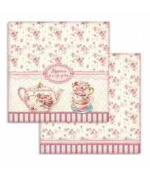 Papier do scrapbookingu Stamperia, Sweety - Cup of Tea SBB736