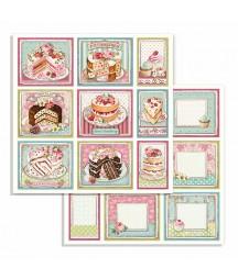 Papier do scrapbookingu Stamperia, Sweety - Cakes SBB735