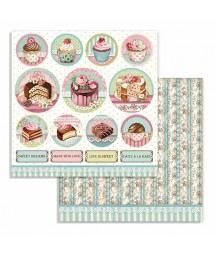 Papier do scrapbookingu Stamperia, Sweety - Mini Cake Rounds SBB737