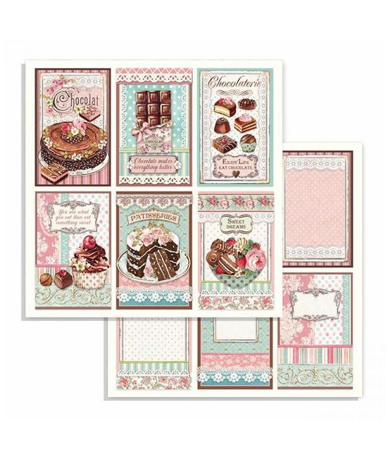 Papier do scrapbookingu Stamperia, Sweety - Chocolate SBB738
