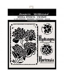 Szablon do past strukturalnych i decoupage, Stamperia -Hortensja KSTDQ44
