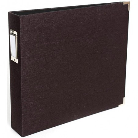 Album We R Linen 3-Ring Album 12x12, Black [660881]