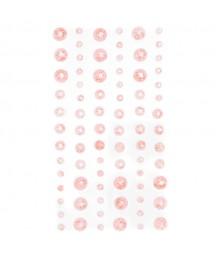Kryształki bursztynowe samoprzylepne, różowe GRKR-074 DP Craft