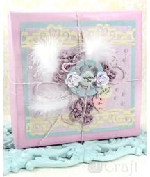 Samoprzylepne perły dekoracyjne, Lilac, 100 szt. GRPE-011 DP Craft