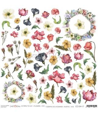 Arkusz do scrapbookingu Craft O'Clock Kwiatki XVII / 17