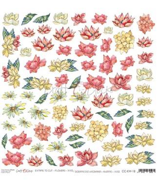 Arkusz do scrapbookingu Craft O'Clock Kwiatki XVIII / 18