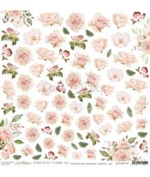 Arkusz do scrapbookingu Craft O'Clock Kwiatki XIX / 19 róże