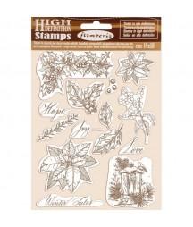 Stemple kauczukowe Stamperia WTKCC170, Winter tales - flora, zimowe rośliny