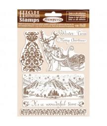 Stemple kauczukowe Stamperia WTKCC169, Winter Tales - Boże Narodzenie