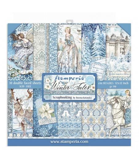 Papiery do scrapbookingu, Winter Tales SBBL76 Stamperia - bloczek