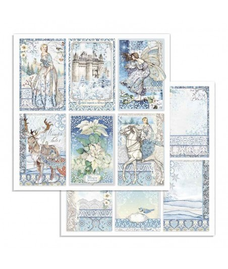 Papier do scrapbookingu 12x12, Stamperia - Winter Tales - karty 6x4 SBB722
