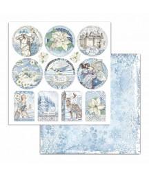 Papier do scrapbookingu 12x12, Stamperia - Winter Tales - tagi SBB721
