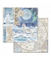 Papier do scrapbookingu 12x12, Stamperia - Arctic - arktyczny wilk SBB733