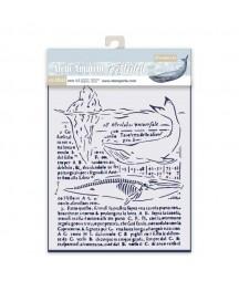Szablon do past strukturalnych i decoupage, Stamperia - Wieloryby KSTD056