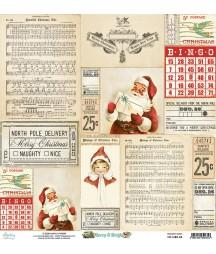 Papier do scrapbookingu Mintay Papers 12x12, Merry & Bright 04 przód