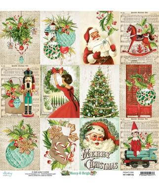 Papier do scrapbookingu Mintay Papers 12x12, Merry & Bright 06 przód