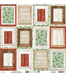 Papier do scrapbookingu 12x12, Merry & Bright 06 Mintay Papers