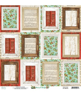 Papier do scrapbookingu Mintay Papers 12x12, Merry & Bright 06 tył