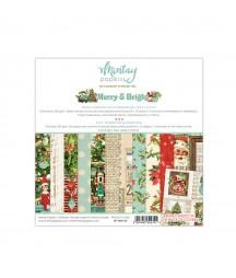 Bloczek do scrappbokingu 15x15 cm, Merry & Bright - Mintay Papers