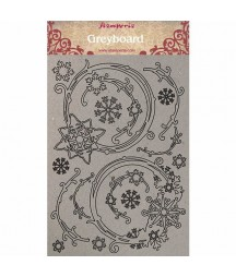 Tekturowe dekory Winter Tales - gwiazdki, Stamperia KLSPDA408