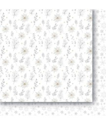 Białe Jak Śnieg 01 - papier do scrapbookingu od Galerii Papieru / Paper Heaven