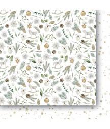 Białe Jak Śnieg 04 - papier do scrapbookingu od Galerii Papieru / Paper Heaven