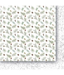 Białe Jak Śnieg 05 - papier do scrapbookingu od Galerii Papieru / Paper Heaven