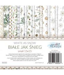 Zestaw papierów do scrapbookingu Biały Jak Śnieg - Paper Heaven