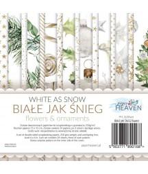Zestaw papierów do scrapbookingu Biały Jak Śnieg - dodatki - Paper Heaven