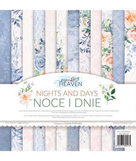 Zestaw papierów do scrapbookingu Noce i dnie - Paper Heaven