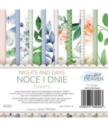 Zestaw papierów do scrapbookingu Noce i dnie flowers - Paper Heaven