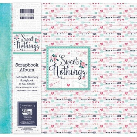 Album do scrapbookingu 12x12, Dovecraft First Edition Sweet Nothings Arrow [FEALB053]