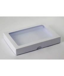 Pudełko kwadratowe z okienkiem białe na kartkę C6