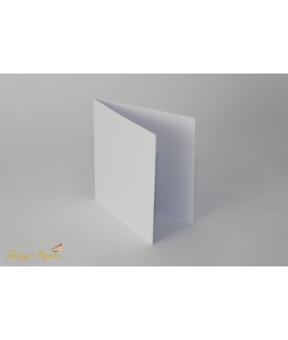 Baza do kartki kwadratowa biała 14x14
