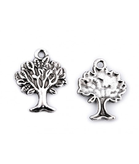 Metalowa zawieszka - drzewo życia platyna