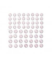 Kryształki samoprzylepne z brokatem 8-10 mm, Crystal, 60 szt. GRKR-112