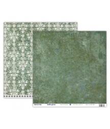 Papier do scrapbookingu UHK Gallery, Winter Tree - Bottle Green