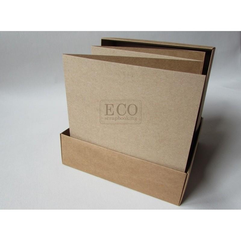 Album harmonijka 15.5x15.5 w pudełku - kraft