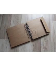 Album kopertowy kraft 175x170, 10 kopert [Eco-scrap]