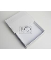 Pudełko na zdjęcia - baza do ozdabiania Eco-Scrapbooking, biała płótno